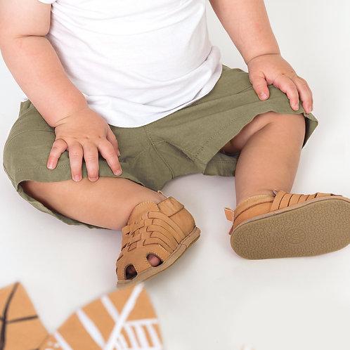 Pretty Brave - Riley Tan Baby Shoes