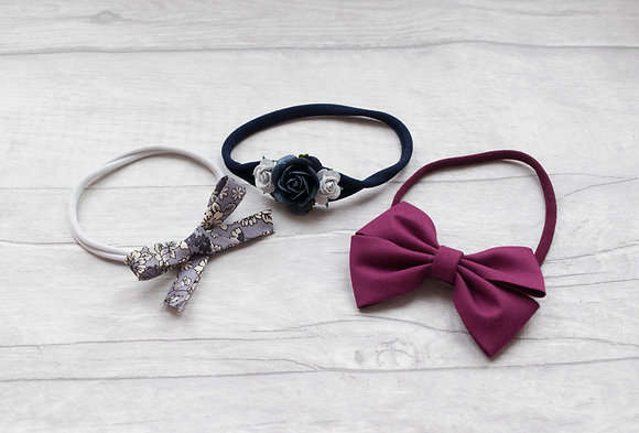 Set of 3 dainty headbands