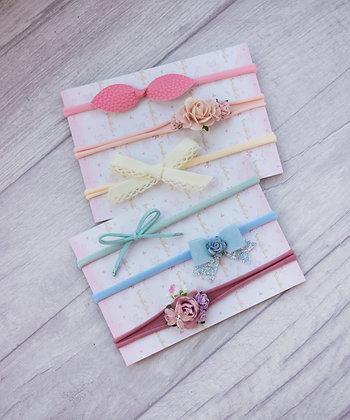 Set of 6 dainty headbands