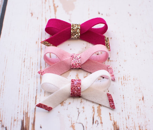 Tie Bow with Glitter
