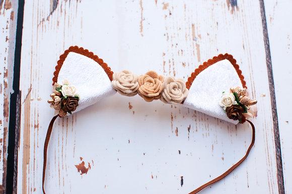 Autumn Fox/Cat Ear Flower Crown