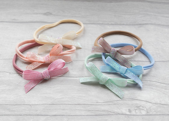 Frosted Glitter Tie Bow