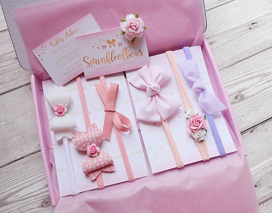 Set of 6 New baby bows
