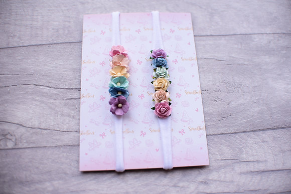 Rainbow Dainty Flower Headband