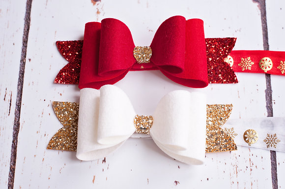 "Christmas Large Double 6"" Bow"