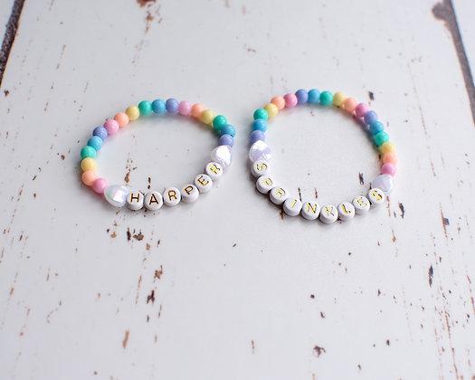 Personalised Rainbow Bracelet