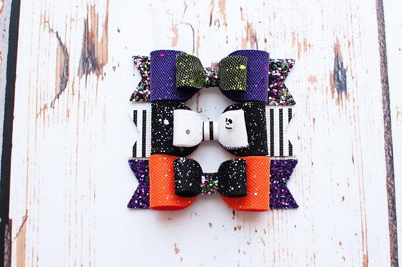 "Halloween Medium Double 3.5"" Bow"
