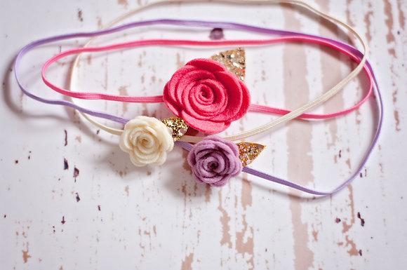 Small Single Flower Headband
