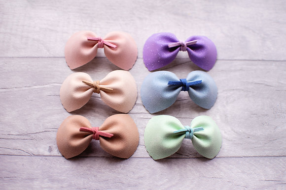 Glitter Suede Knot Bow