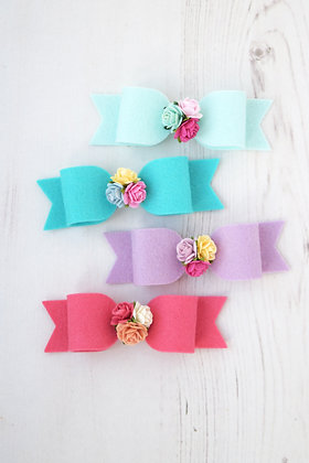 Medium Dainty Flower Bow