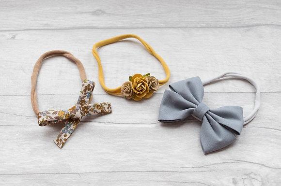 Set of 3 dainty headbands