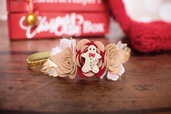 Large Festive Gingerbread Bloom Crown
