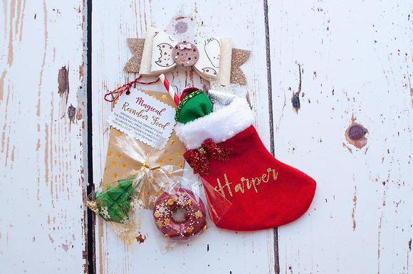 Christmas Eve Surprise Bow Stocking & Treats