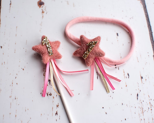 Shooting Star Topper and Headband