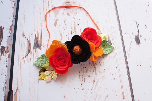 Halloween Large Flower Bloom Crown
