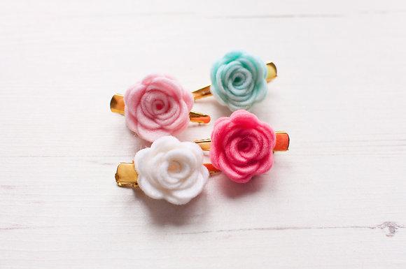 Small Single Rose Clip