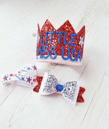 July 4th Crown & Bow