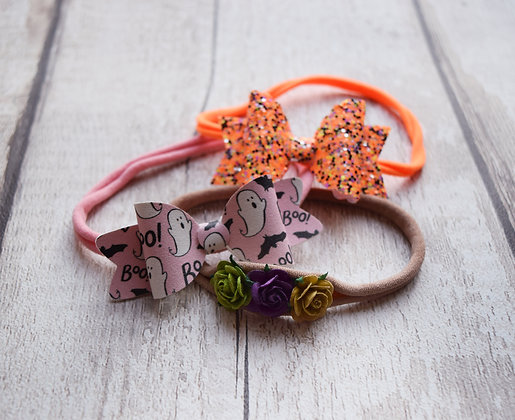 Small Baby Halloween Bows