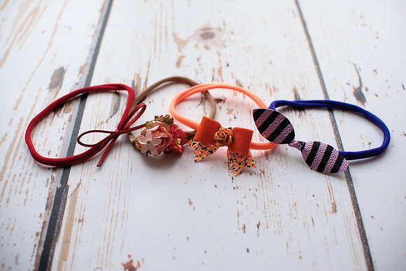 Set of 4 spooky dainty headbands