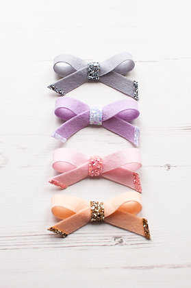 Simple Tie Bow with Glitter