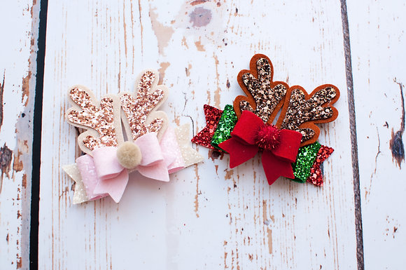 Christmas Antler Bow