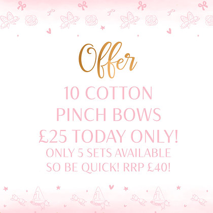 Cotton Pinch Bow Offer