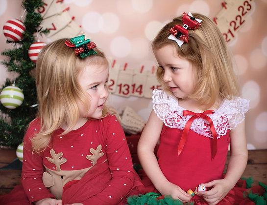 Santa, Elf, Snowman Bow