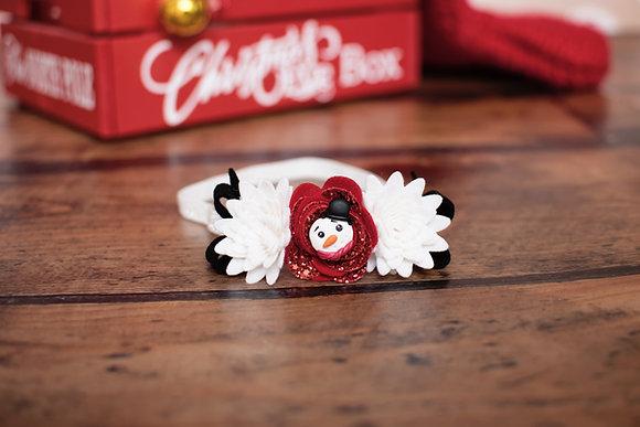 Snowman Flower & Bows Headband