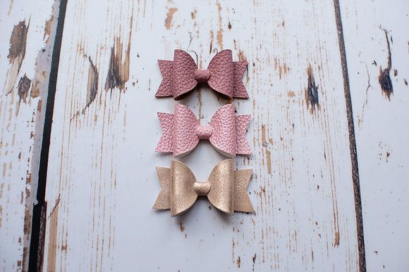 "Set of 3 Mini 2.5"" Bows"