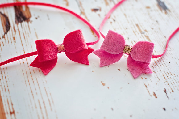 Small Dainty Bow Set Of Two