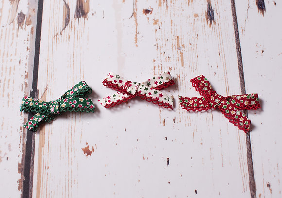 Festive Little Frill Bow