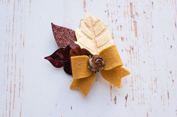 Autumn Leaf Flower bow