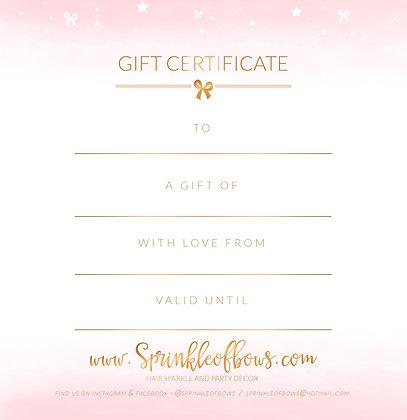 Sprinkles Gift Voucher