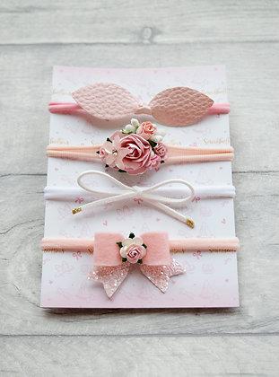Set of 4 dainty headbands