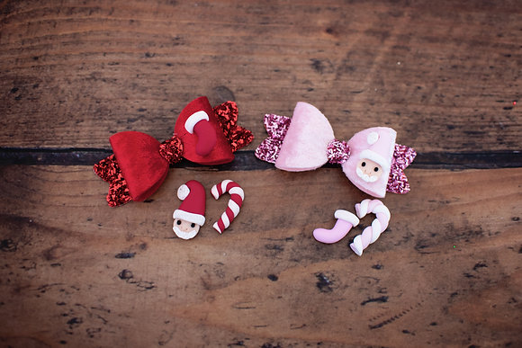 Festive Santa, Candycane or Stocking Bow