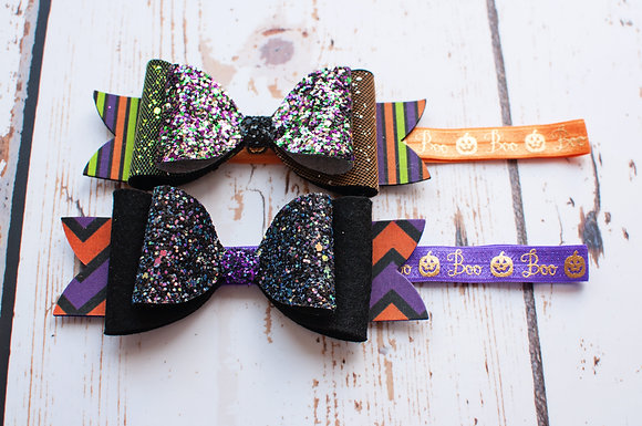 """Halloween Double Large 6"""" Bow"""
