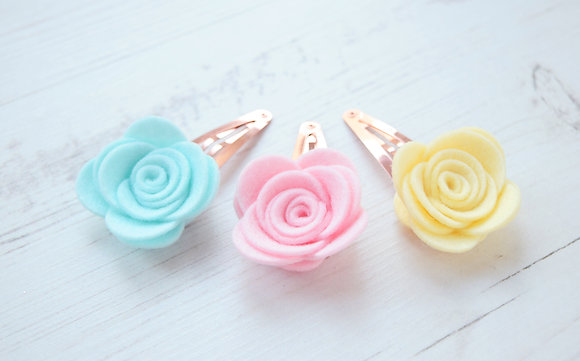 Rose Flower Snap Clip