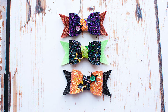 Halloween Mini Sparkle Bow