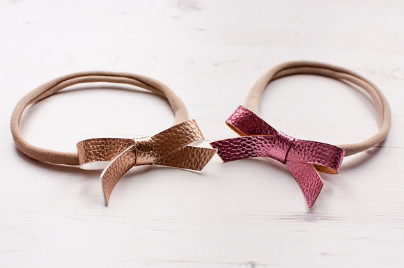 Faux Leather Simple Tie Bow