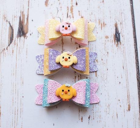 Easter Chicks Medium Bow