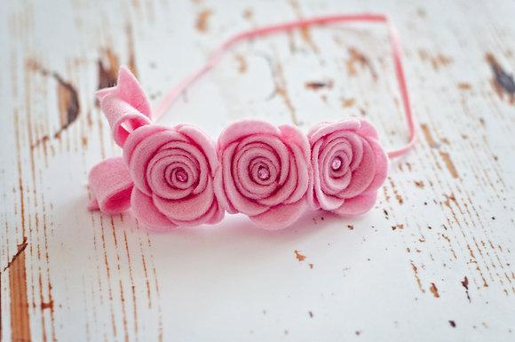 3 Flower Bow Headband