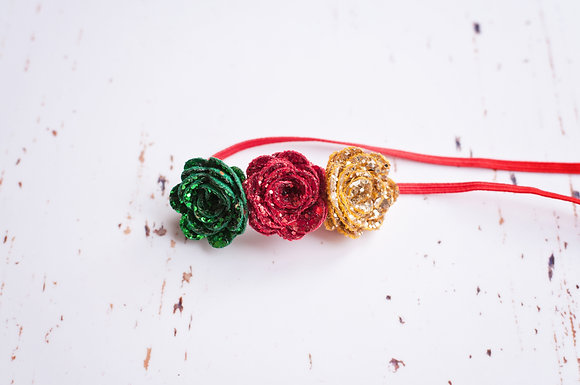 Glitter Small 3 Flower Crown