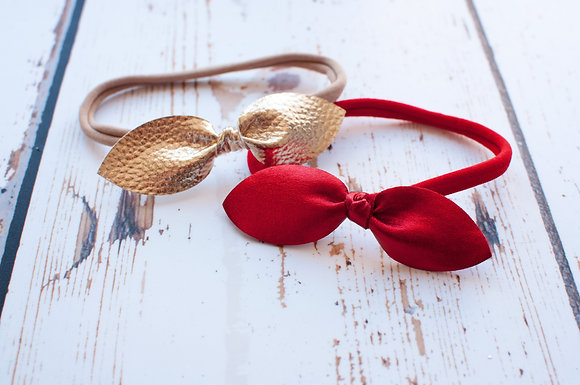 Christmas Leather Knot Bow