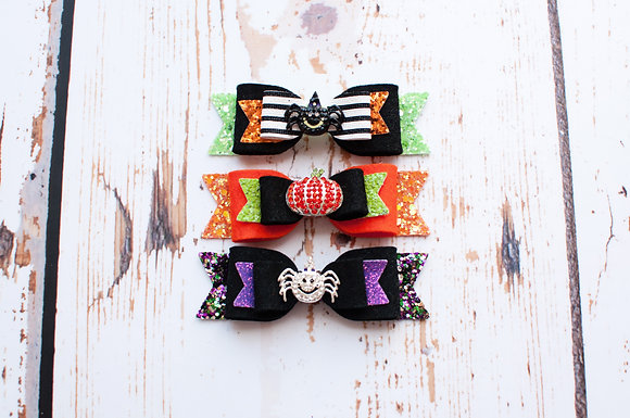 "Halloween Medium Double 3.5"" Bow"