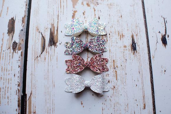 """Sprinkles Glitter Single 3.5"""" Bow"""