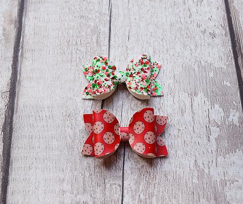 Santas Cookies Bow