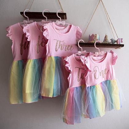 Pastel Rainbow Dress