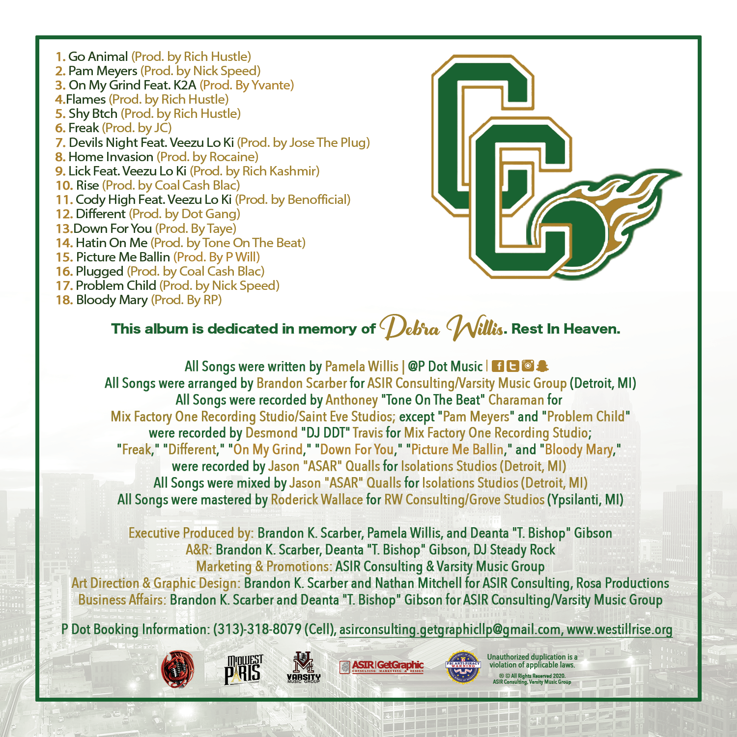 Cody High - Back Cover with Track-Listin