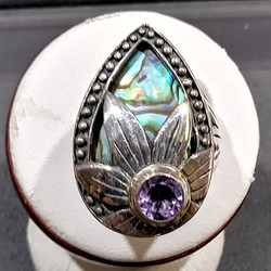 silver MOP ring