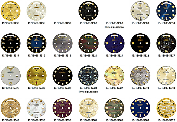 rolex and other brands dials changed